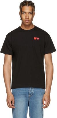 Comme des Garçons Play Black Double Heart T-Shirt $125 thestylecure.com