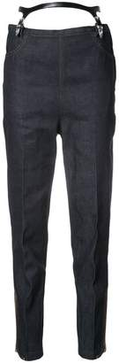 Toga suspenders tapered jeans