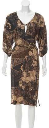 Les Copains Floral Knee-Length Dress