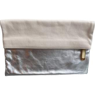 b1c31d68c173 Silver Leather Clutch Bag - ShopStyle UK
