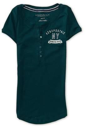 Aeropostale Womens Ny Athletic Divs. Henley Shirt S