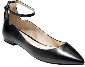 Women's Cole Haan Millicent Ankle Strap Skimmer Flat $150 thestylecure.com