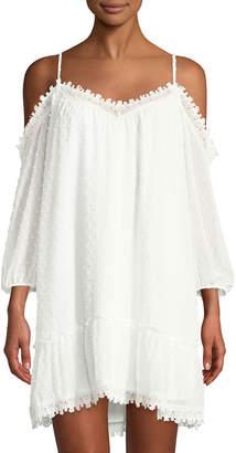 BB Dakota Millie Cold-Shoulder Lace Shift Dress