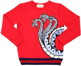 Gucci Snake Printed Cotton Sweatshirt
