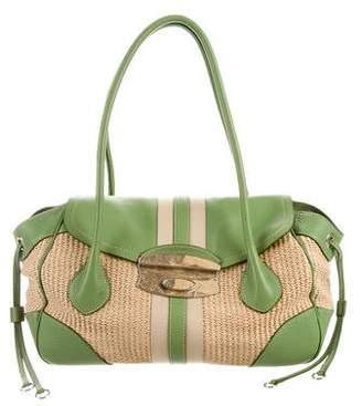 b196b801d142e2 ... green leather woman a145435 e9633 5665b sweden pre owned at therealreal  prada lizard straw bag 4e984 6587e ...
