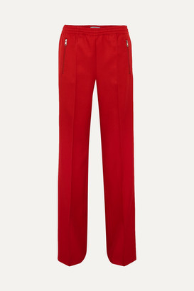 Prada Gabardine Track Pants - Red