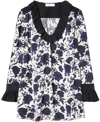 Tory Burch HAPPY TIMES RUFFLE BLOUSE