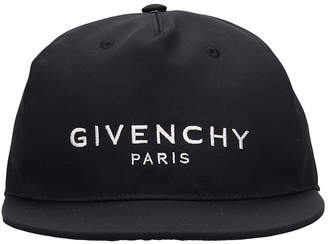 Givenchy Cap Flat Peak Hats In Black Canvas