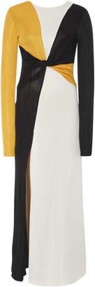 Galvan Star Knotted Color Block Maxi Dress