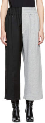 Vejas Black and Grey Half and Half Trousers