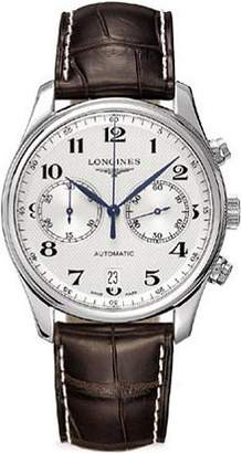 Longines Master Collection Automatic Chronograph Transparent Case Back Men's Watch L26294783 by