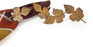 Manor Luxe Autumn Leaf Metal Fall Napkin Ring