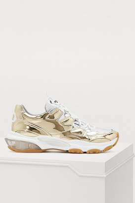dabf86ad0d3a8 Valentino Gold Women's Sneakers - ShopStyle