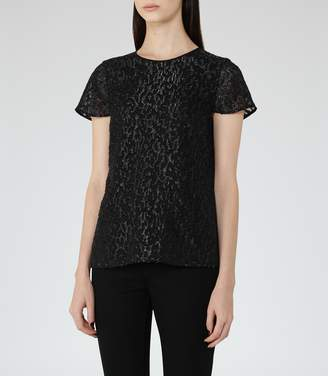 Reiss Fasey - Metallic Top in Black