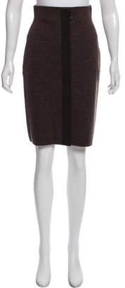 Salvatore Ferragamo Knit Knee-Length Skirt