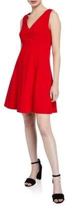 Kate Spade V-Neck Sleeveless A-Line Ponte Dress