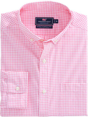 Vineyard Vines Seaglass Gingham Performance Classic Murray Shirt
