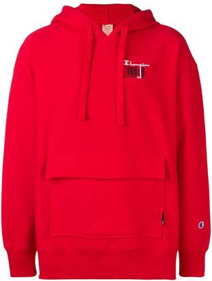 Champion barcode print hoodie