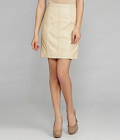 M.S.S.P. Faux-Leather Pencil Skirt