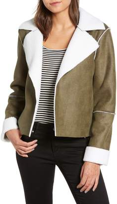 Vigoss Faux Shearling Moto Jacket