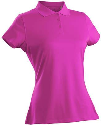 Asstd National Brand Nancy Lopez Golf Luster Short Sleeve Plus Short Sleeve Knit Polo Shirt Plus