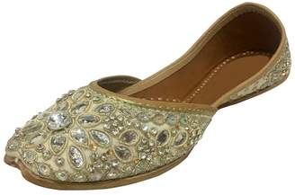 e17efc69e N. Step Style Traditional Handmade Women Shoes Leather Flip-Flops Mojari  Juti Khussa