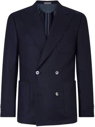 Corneliani Double-Breasted Wool Blazer