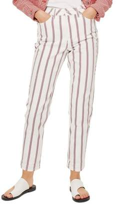 Topshop Stripe Mom Jeans