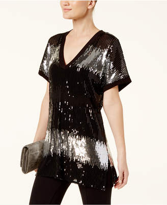 INC International Concepts I.n.c. Petite Sequin Tunic