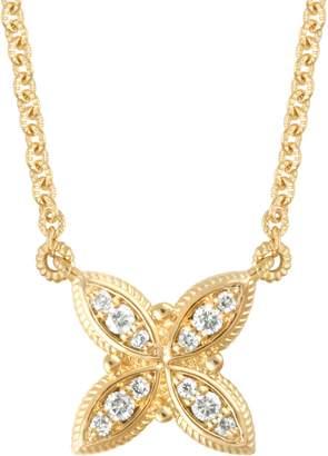 "Judith Ripka 14K Yellow Gold 1/7 cttw Diamond 18"" Necklace"