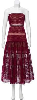 Self-Portrait Lace Strapless Dress