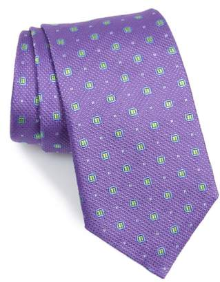 David Donahue Neat Medallion Silk Tie