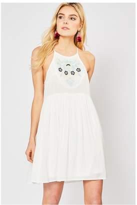 Entro Boho Embroidered Dress