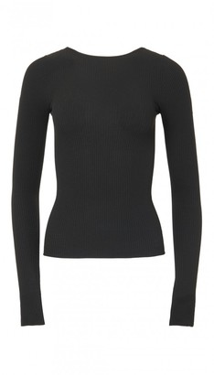 Seamless Ribbed Scoop Back Pullover $450 thestylecure.com