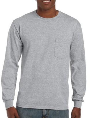 Gildan Mens Classic Long Sleeve Pocket T-Shirt