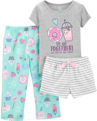 Carter's Toddler Girl Donut Top & Bottoms Pajama Set