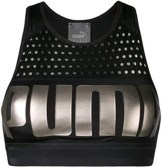 Puma metallic logo sports top