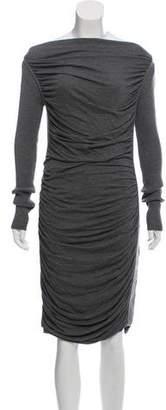Jean Paul Gaultier Soleil Cowl-Neck Sweater Dress