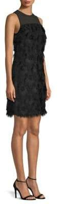 MICHAEL Michael Kors Jacquard Peacock Feather Dress