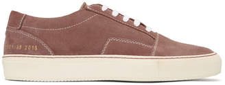 Common Projects Pink Suede Skate Low Sneakers