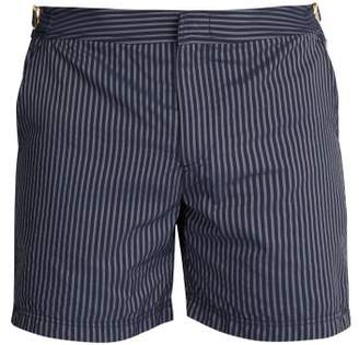 Orlebar Brown Bulldog X Striped Swim Shorts - Mens - Navy Multi