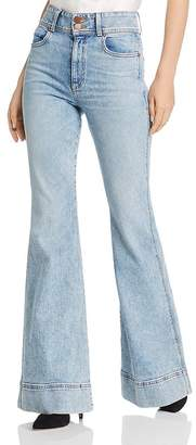 Alice + Olivia Beautiful Ex High-Waisted Bell-Bottom Jeans