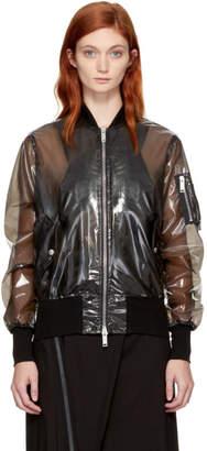 Unravel Black PVC Bomber Jacket