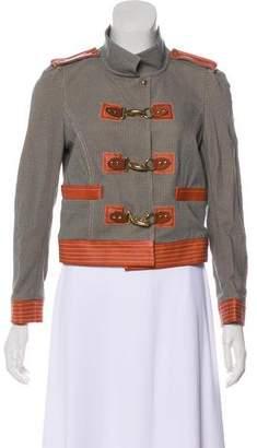 Diane von Furstenberg Marti Leather-Trimmed Jacket