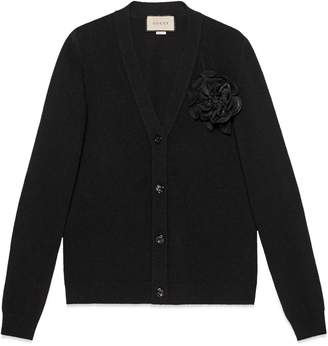Gucci Wool cardigan with detachable rose