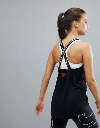 Nike Training Dry Elastika Tank In Black