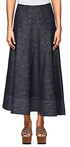 Derek Lam Women's Denim Midi-Skirt-Indigo