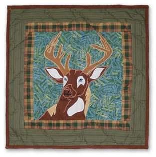 Patch Magic Whitetail Grove Cotton Throw Pillow