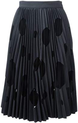 MSGM polka dot pleated skirt