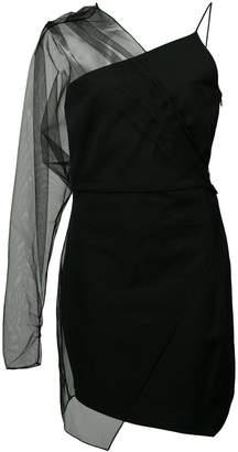 Cushnie sheer sleeve dress